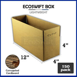 150 12x4x4 Cardboard Packing Mailing Moving Shipping Boxes Corrugated Box Carton