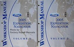 2005 Ford Expedition Lincoln Navigator Factory Shop Service Repair Manual Set