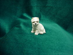 WESTIE puppy TiNY DOG Figurine MINIATURE Mini Statue WEST HIGHLAND WHITE TERRIER