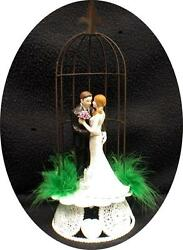 Rustic Garden Gate Wedding Cake Topper, Sexy Chic Shabby Funny Barn Outdoors