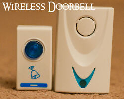 WIRELESS Doorbell Door Bell Chime Sound Dorm Room Portable Travel Ringer Remote