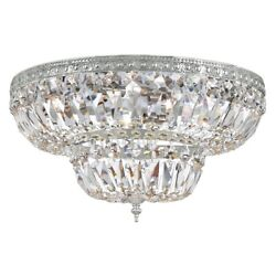 Crystorama 4 Light Clear Crystal Strass Chrome Ceiling Mount - 718-ch-cl-s