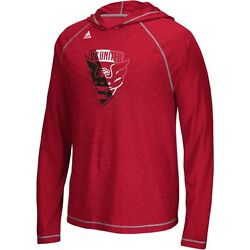 Adidas Dc United Mls 2016 Soccer Climalite Lightweight Hooded Shirt Red