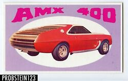 1970 Topps Way Out Wheels Amx 373 Color Proof Card -