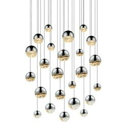 Sonneman Grapes 24 Light Round Assorted LED Pendant Chrome - 2918-01-AST