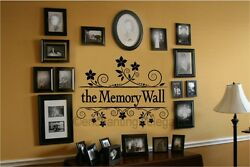 The Memory Wall Flowers Scroll Vinyl Decal Sticker Words Letters Picture Wall