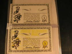 1964 Topps Nutty Awards 2 Proof Card Set 5