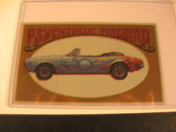 1970 Topps Way Out Wheels Proof Psychedelic Firebird