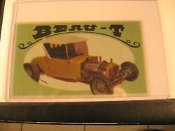 1970 Topps Way Out Wheels Original Proof Beau-t
