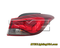 TYC NSF Right Side Tail Light Assembly for Hyundai Elantra Limited Sport 14-15