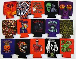 New Halloween Can Bottle Beverage Coolers Insulators Scary Funny 15 Designs