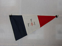 Flag640 Ww2 French Forces Interior Oss Sf Special Forces Pennant Blue