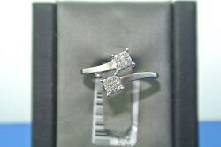 14k White Gold Invisible Set Engagement Style Diamond Ring .20 Tcw J Color I1