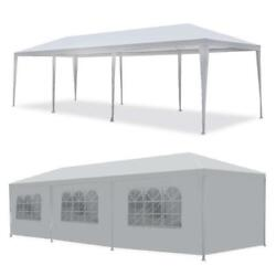 10and039x30and039 Outdoor Canopy Party Wedding Tent White Pavilion 8 Removable Walls -8