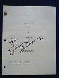 Original Tales From The Crypt T.v. Script - Signed By Brooke Shields - Her Copy