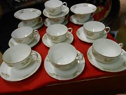 Great Vintage Noritake Nippon M Handpainted 10 Cups And Saucers And 2 Free Saucers