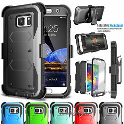 Samsung Galaxy S7 Stand Belt Clip Holster Case Cover W Built in Screen Protector