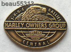 Harley Davidson Owners Group Hog 1994 Central Rally Vest Jacket Hat Pin Pins