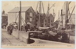 .isle Of Wight. Rare Early 1900s Postcard. Newport Town Quay No 12 Ll Series