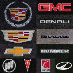 Ultimats 4pc Carpet Floor Mats For Gm Vehicles - Choose Color And Logo