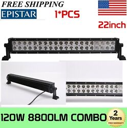 22inch 120w Combo Led Work Light Bar Off-road Driving Suv Boat 4wd Atv Truck 20