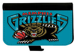 MEMPHIS GRIZZLIES SAMSUNG GALAXY amp; iPHONE CELL PHONE CASE LEATHER COVER WALLET $19.99