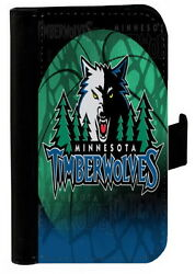 MINNESOTA TIMBERWOLVES SAMSUNG GALAXY iPHONE PHONE CASE LEATHER COVER WALLET $19.99