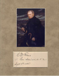 Robley D Evans Signed Matted With Photo Coa Rj20 Rear Admiral White Fleet Tour