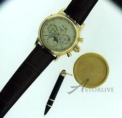 18k Yellow Gold Patek Philippe 5004 Factory Complete Best Deal in World $219750