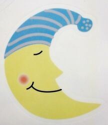 STARS amp; MOON NIGHT THEME WALL STICKERS KIDS ROOM DECOR WALL DECAL Made in USA
