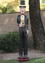6and039 Doc Holliday Cigar Store Figure Sculpture 6 Foot By Frank Gallagher Special