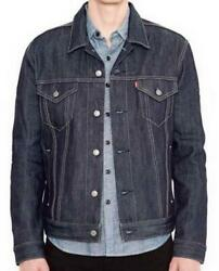 Leviand039s Menand039s Premium Button Up Denim Jeans Jacket Relaxed Rigid 723350005