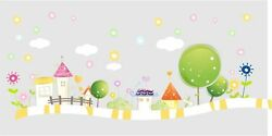 Wall Tattoo Candy Land Tree Clouds Childrenand039s Room Flowers Wall Sticker