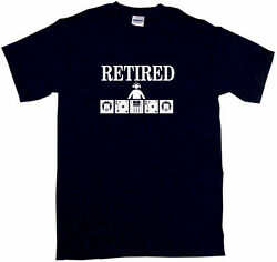 Retired Dj Table Logo Mens Tee Shirt Pick Size Color Small-6xl