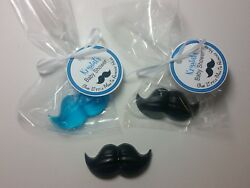 Mustache Baby Shower Party Favor Little Man Gender Reveal Personalized Tags 10