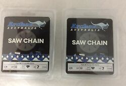 2 Pack 28 Archer Chainsaw Chain 3/8 Full Chisel .050 Gauge 92dl Drive Links