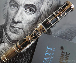 MONTBLANC JAMES WATT SKELETON ARTISAN LIMITED EDITION 83 FOUNTAIN PEN YEAR 2014