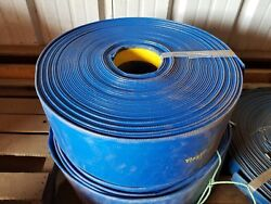 Blue Pvc Lay Flat Discharge Hose 10 Id X 100and039