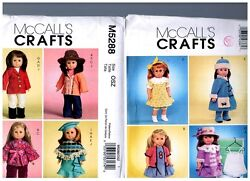 2 Mccall S Oop Patterns M5288 And M4336 Doll Dress Clothes Fits 18 American Girl