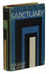 Sanctuary William Faulkner First Edition 1st Printing 1931 Dust Jacket