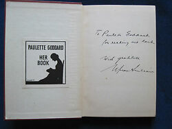 The Way Out By Sinclair - Paulette Goddard's Copy Wi Chaplin Designed Bookplate
