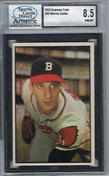 1953 Bowman WARREN SPAHN # 99 Color (SCD 8.5 NM-MT+) MLB Hall of Fame (352