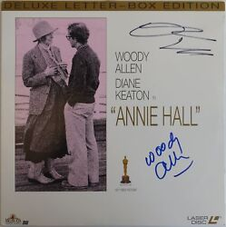 Woody Allen & Diane Keaton Signed Annie Hall Laser Disc Cover PSADNA #AB87422