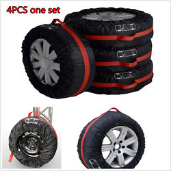 4pcs Car Seasonal Spare Tire Protection Cover Carry Tote Storage Bag For 13
