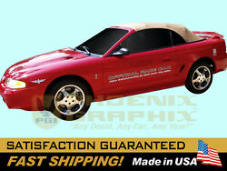 Compatible With 1994 Mustang Cobra Indy 500 Official Pace Car Decals Stripe Kit