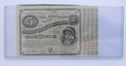 Early 1880and039s State Of Louisiana 5 Interest-bearing Bondreal Nice And Pretty