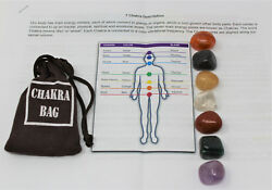 7 Chakra Crystal Healing Stone Set 7 Tumbled Stones Instructions amp; Carry Pouch $8.97