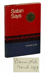Satan Says By Sharon Olds Signed First Edition 1980 1st Book Hardcover