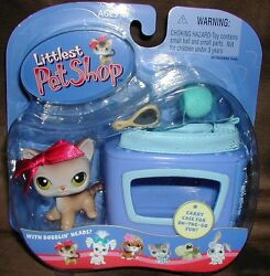 Littlest Pet Shop CALICO CAT portables #19 VHTF 2004