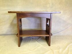 Solid 5/4 Mission Oak Game Table With Wedged Tennons & Cutouts Free Shipping